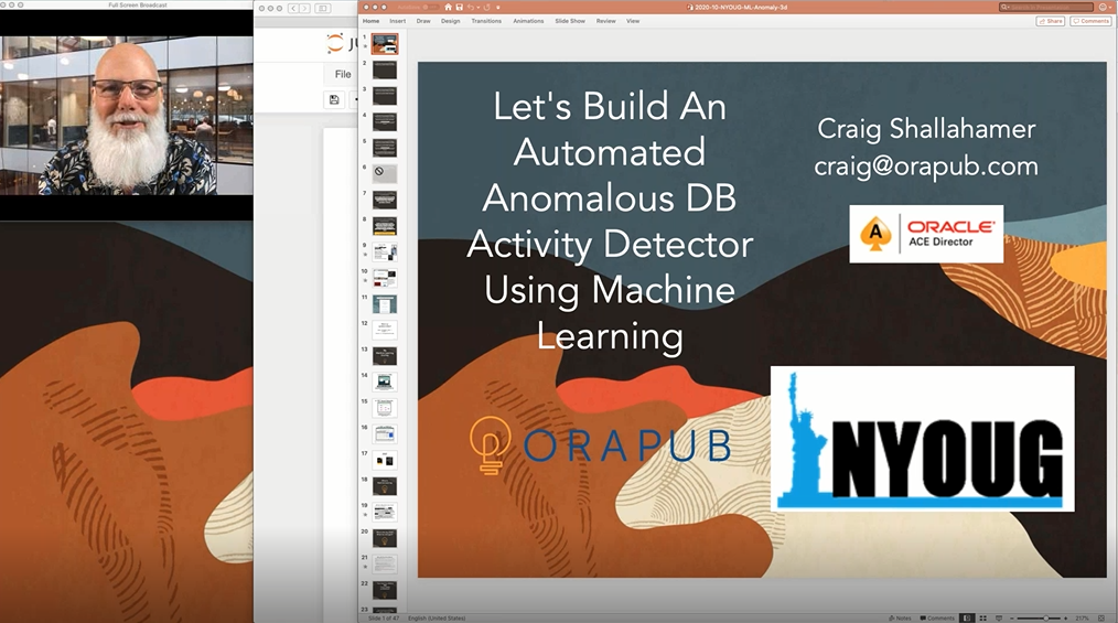 NYOUG Webinar: Let's Build An Automated Anomalous DB Activity Detector Using Machine Language